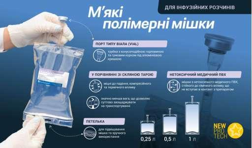 Полімерні мішки для інфузійних розчинів
